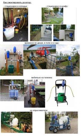 Дозаторы Dosatron в системах полива